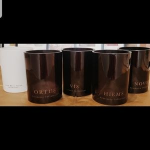 2for$18 - Set of 5 Used Decorative Candle Jars